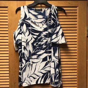 Navy/White blouse